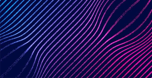 Linhas de partículas iluminadas digital textura de fundo