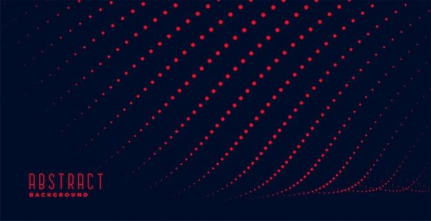 Linhas de partículas vermelhas abstratas trilha fundo