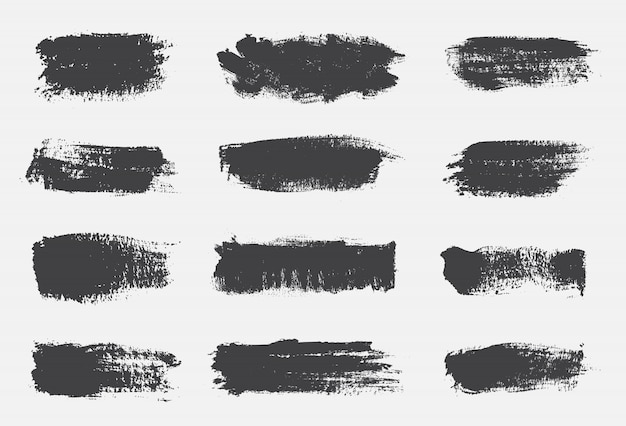 Linhas de pincel de pintura de grunge