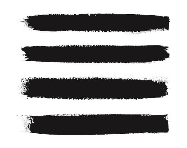 Linhas de pincel preto