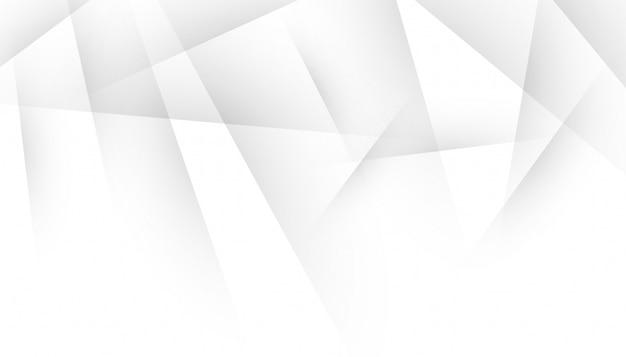 Linhas de sombra abstratas em design branco