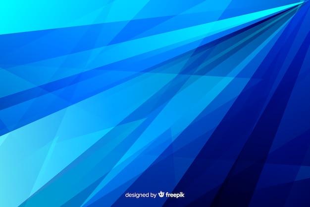 Linhas de tons de azul abstrato diagonal