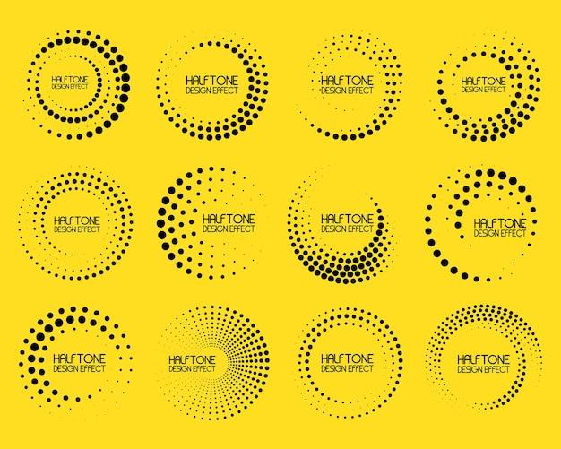 Linhas de velocidade em forma de círculo
