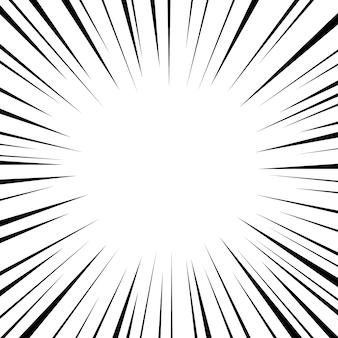 Linhas de velocidade radial em quadrinhos