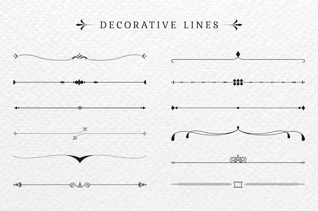 Linhas decorativas
