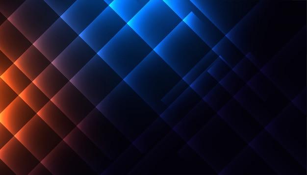 Linhas diagonais brilhantes nas cores azul e laranja