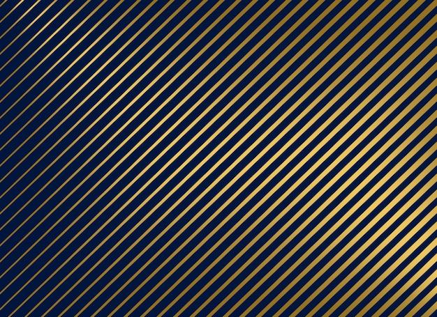 Linhas diagonais douradas premium fundo do vetor