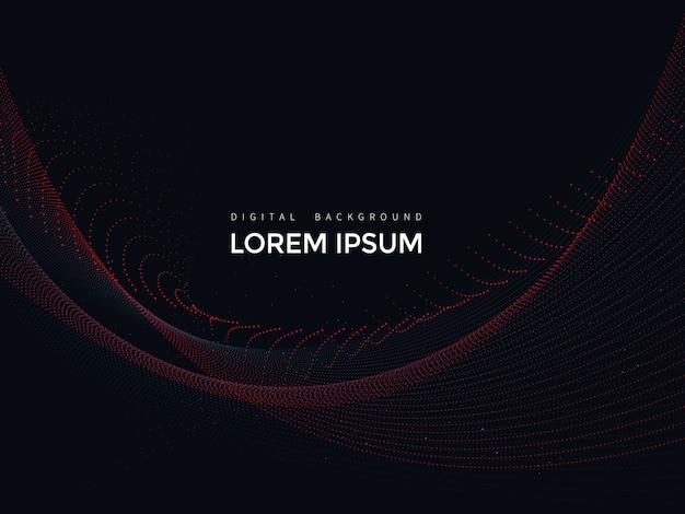 Linhas digitais em fundo preto, design de malha abstrata