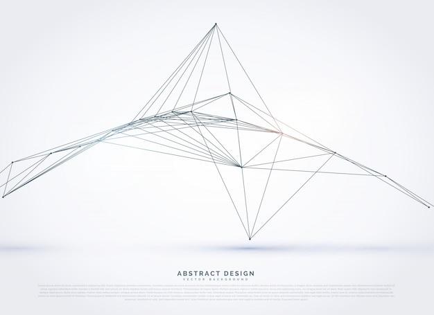 Linhas digitais waireframe fundo da rede
