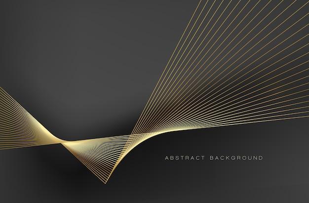 Linhas douradas de fundo abstrato para brochura