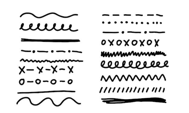 Linhas e divisórias desenhadas à mão