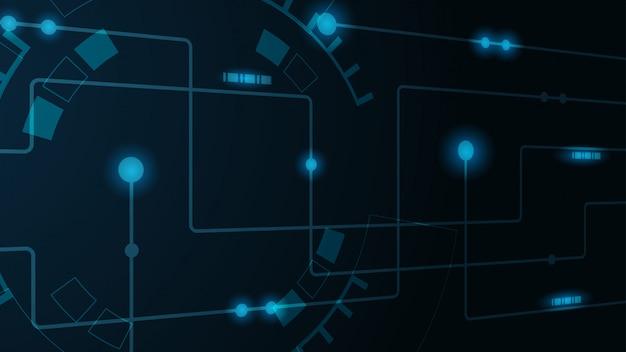 Linhas e pontos geométricos abstratos. plano de fundo gráfico tecnologia simples. o circuito