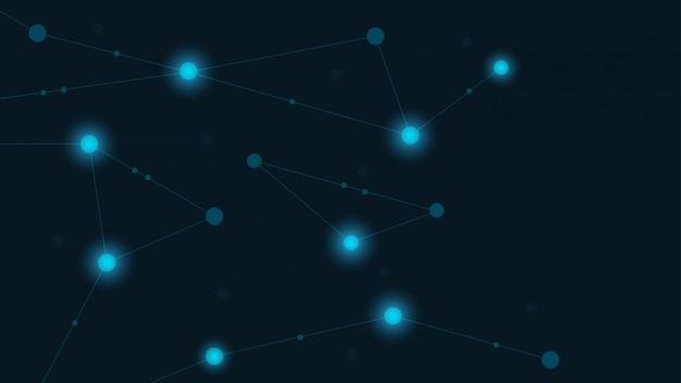 Linhas e pontos geométricos abstratos. plano de fundo gráfico tecnologia simples.