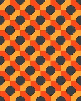 Linhas geométricas 3d com padrão sem emenda de círculo abstrato