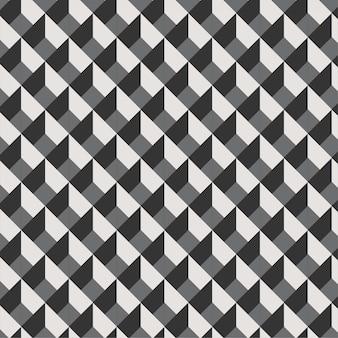 Linhas geométricas 3d legal padrão mínimo. fundo preto e branco