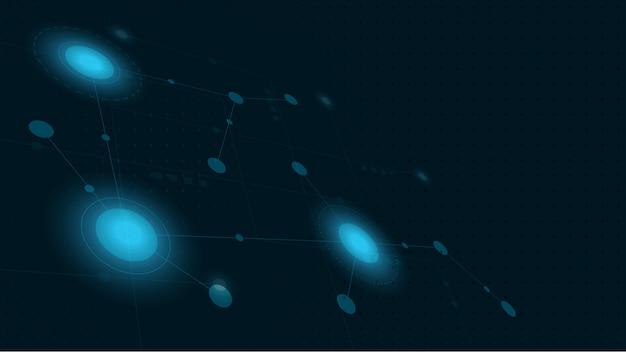 Linhas geométricas abstratas conecte e pontos. fundo gráfico de tecnologia simples.