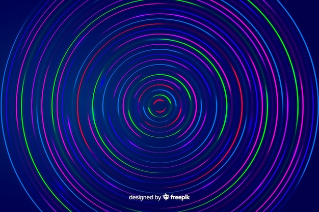Linhas geométricas coloridas abstraem base