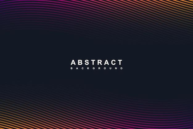 Linhas gradientes abstratas curvando fundo escuro