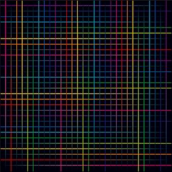 Linhas multicoloridas