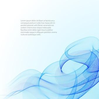 Linhas onduladas de fundo abstrato
