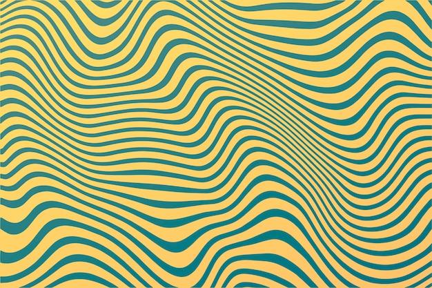 Linhas onduladas de fundo psicodélico groovy