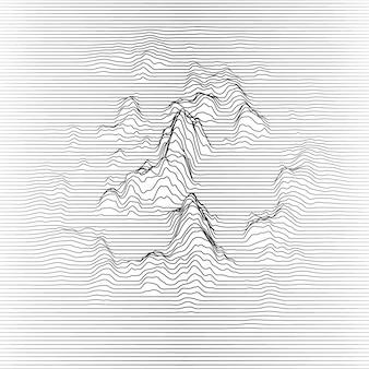 Linhas onduladas fazendo montanhas