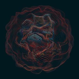 Linhas onduladas, fazendo um círculo