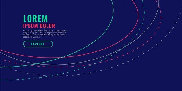 Linhas onduladas fundo azul design ilustração vetorial