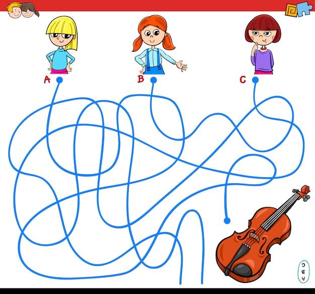 Linhas ou maze puzzle game for kids