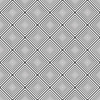 Linhas pretas e brancas sem emenda do vetor padrão abstrato. ornamento elegante de ladrilhos geométricos. eps10 Vetor Premium