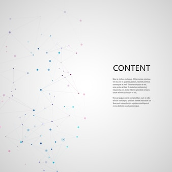 Linhas que conectam pontos de grade criativos na superfície. fundo de capa abstrata