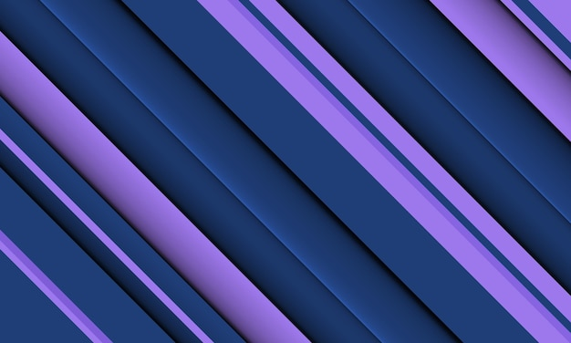 Linhas sobrepostas azuis e roxas abstratas com sombra. design simples para seu site.