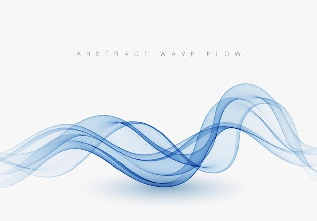 Linhas suaves onduladas azuis