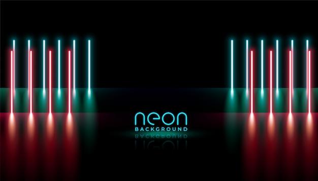 Linhas verticais de luzes de néon abstratas