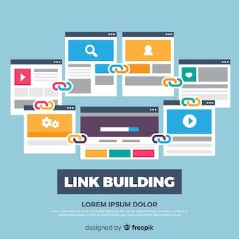 Link building concept