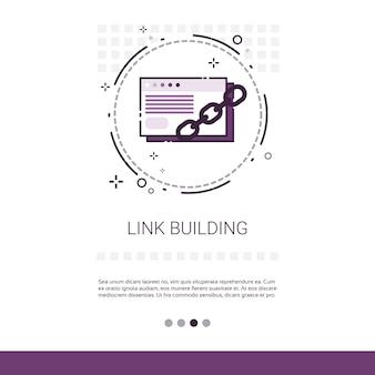 Link building seo keywording banner de pesquisa