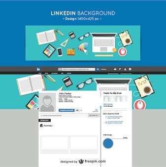 Linkedin designers de fundo