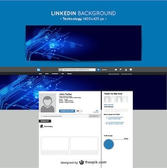 Linkedin tecnologia fundo