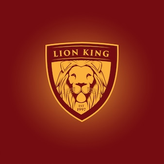 Lion king mascot logo design
