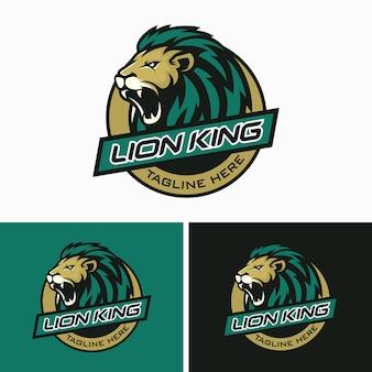 Lions head sport logo imagem