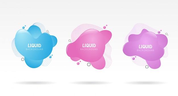 Liquid conjunto de formas para promover o seu negócio