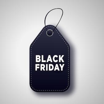 Liquidação de black friday em etiquetas de preços em preto e branco