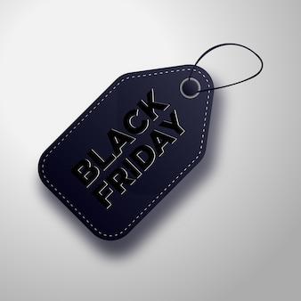 Liquidação de black friday nas etiquetas de preço da black friday