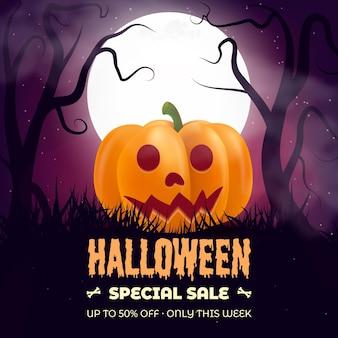 Liquidação de halloween realista