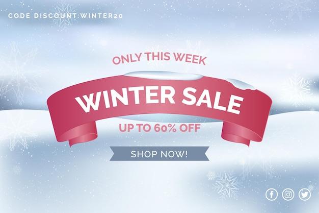 Liquidação de inverno realista