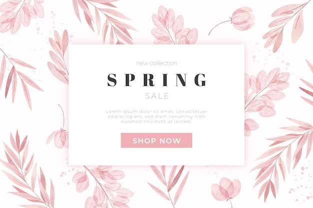 Liquidação de primavera em aquarela