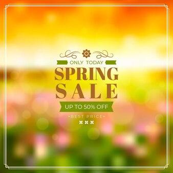 Liquidação de primavera realista