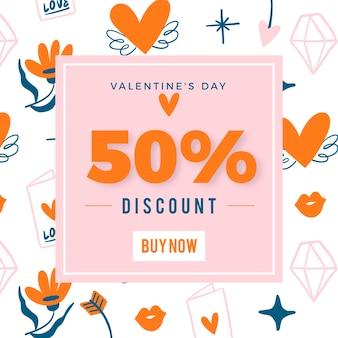 Liquidação do dia dos namorados com 50% de desconto