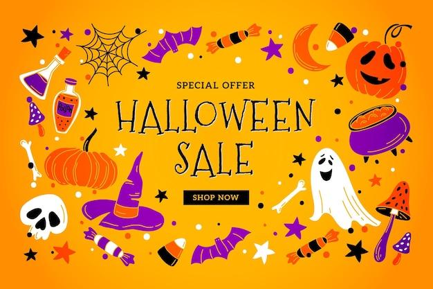 Liquidação do festival de halloween
