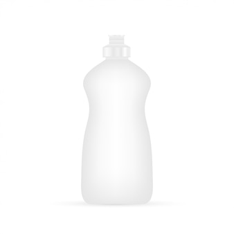 Líquido para lavar louça. frasco de limpeza isolado